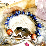 Mountain Charm Beaded Bracelet