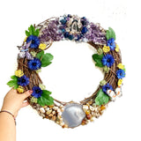 Jumbo Gemstone and Floral Wreath