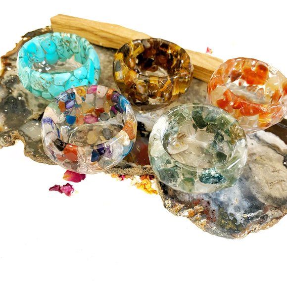 Gemstone and Resin Mini Trinket Bowl
