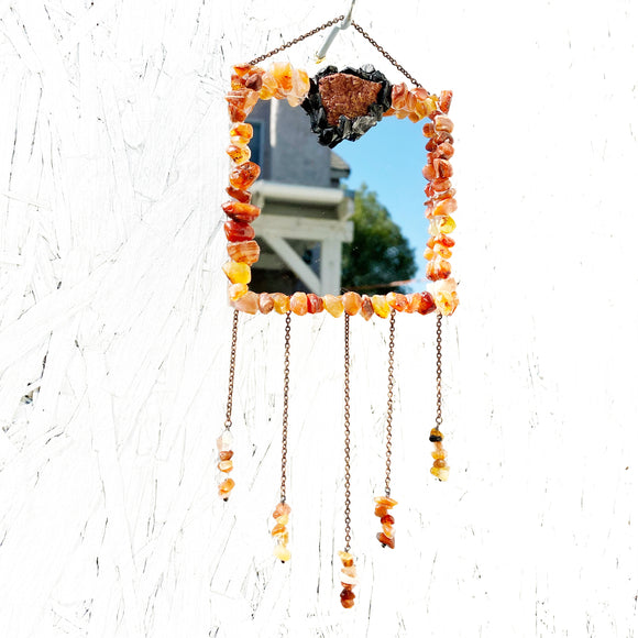 Carnelian Mini Mirror Hanging