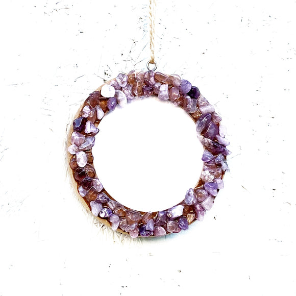 Amethyst Quartz Picture Frame Ornament