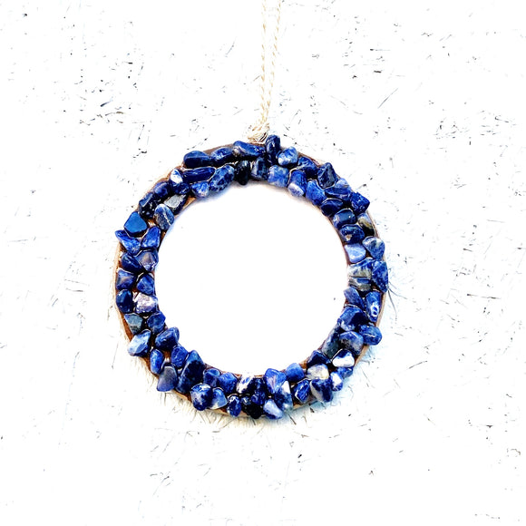 Sodalite Picture Frame Ornament