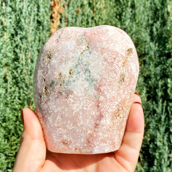 Pink Amethyst Tumbled Large Cutbase