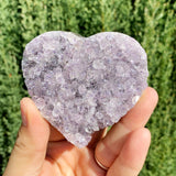 One of a Kind Druzy Amethyst Cluster Heart