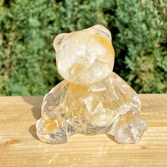 Citrine Quartz and Resin Teddy Bear