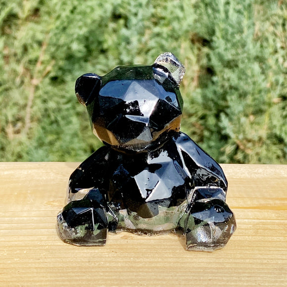 Black Tourmaline and Resin Teddy Bear