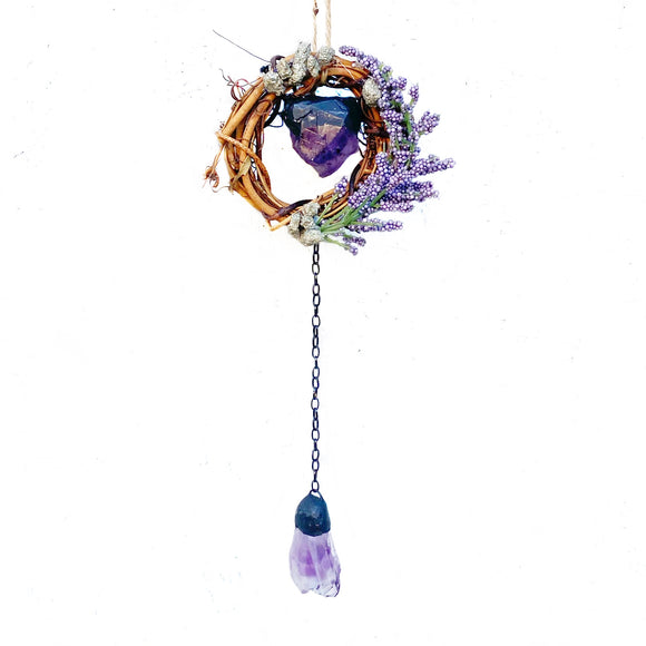 Amethyst mini wreath