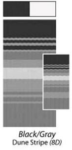 Black-Gray Dune Stripe