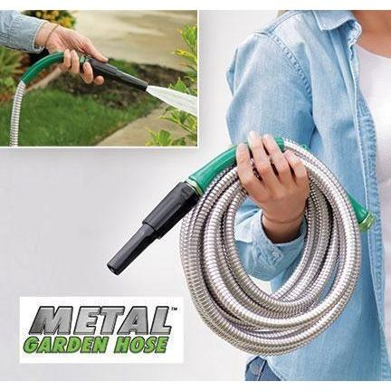 Steel Garden Hose -  Outdoors - BuyShopDeals