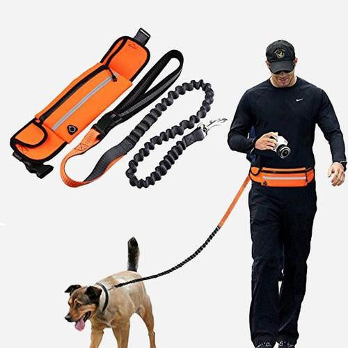 HANDS-FREE DOG LEASH + POUCH