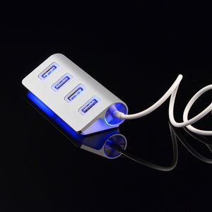 4 PORT LED ALUMINUM USB HUB