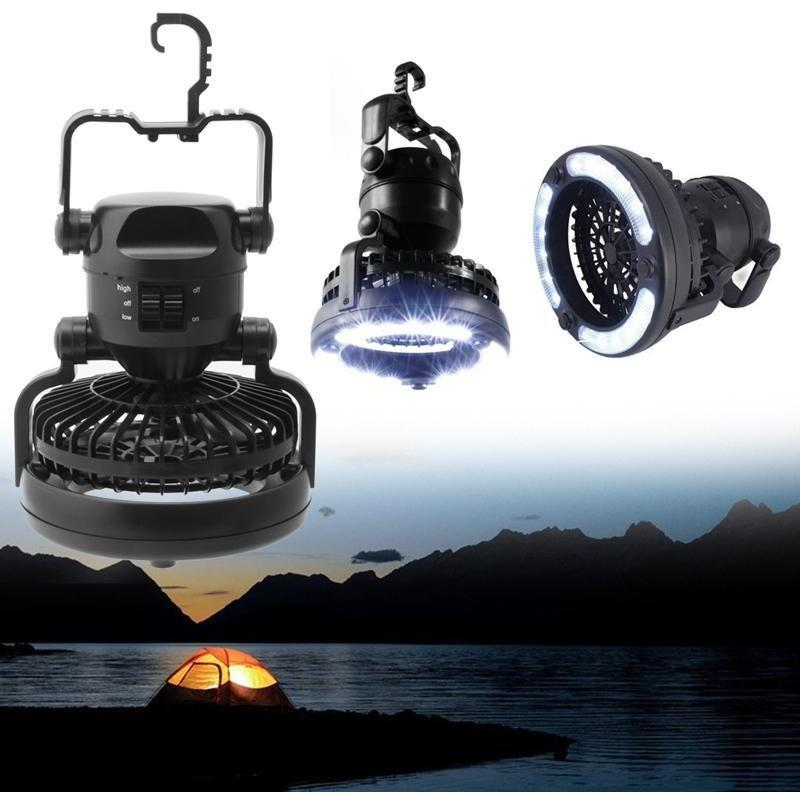 LED Camping Lantern with Ceiling Fan -  Outdoors - BuyShopDeals