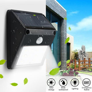 Solar Powered & Motion Activated Outdoor LED Light
