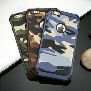 CAMOUFLAGE ARMOR HARD LEATHER BACK COVER CASE