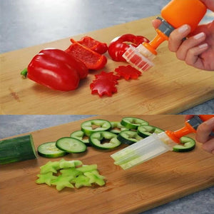 Push & Pop Fruit & Vegetable Shaper Cutter