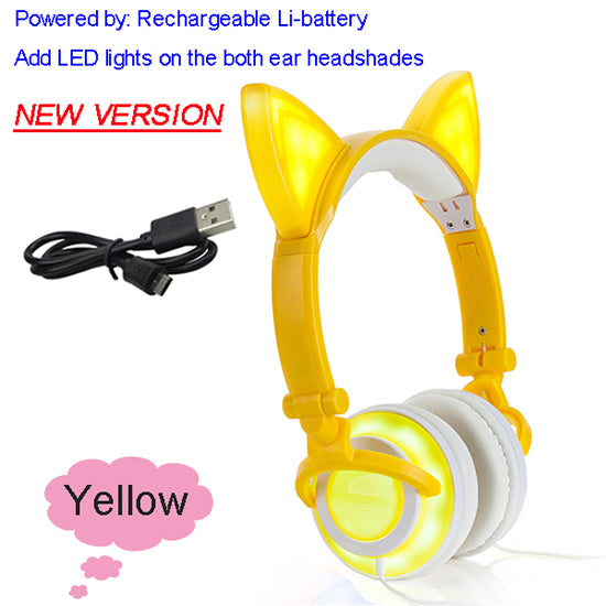Cat Ear Headphones - With Glowing Ears