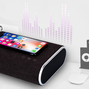 SMART WIRELESS QUICK PHONES CHARGER & BLUETOOTH SPEAKER