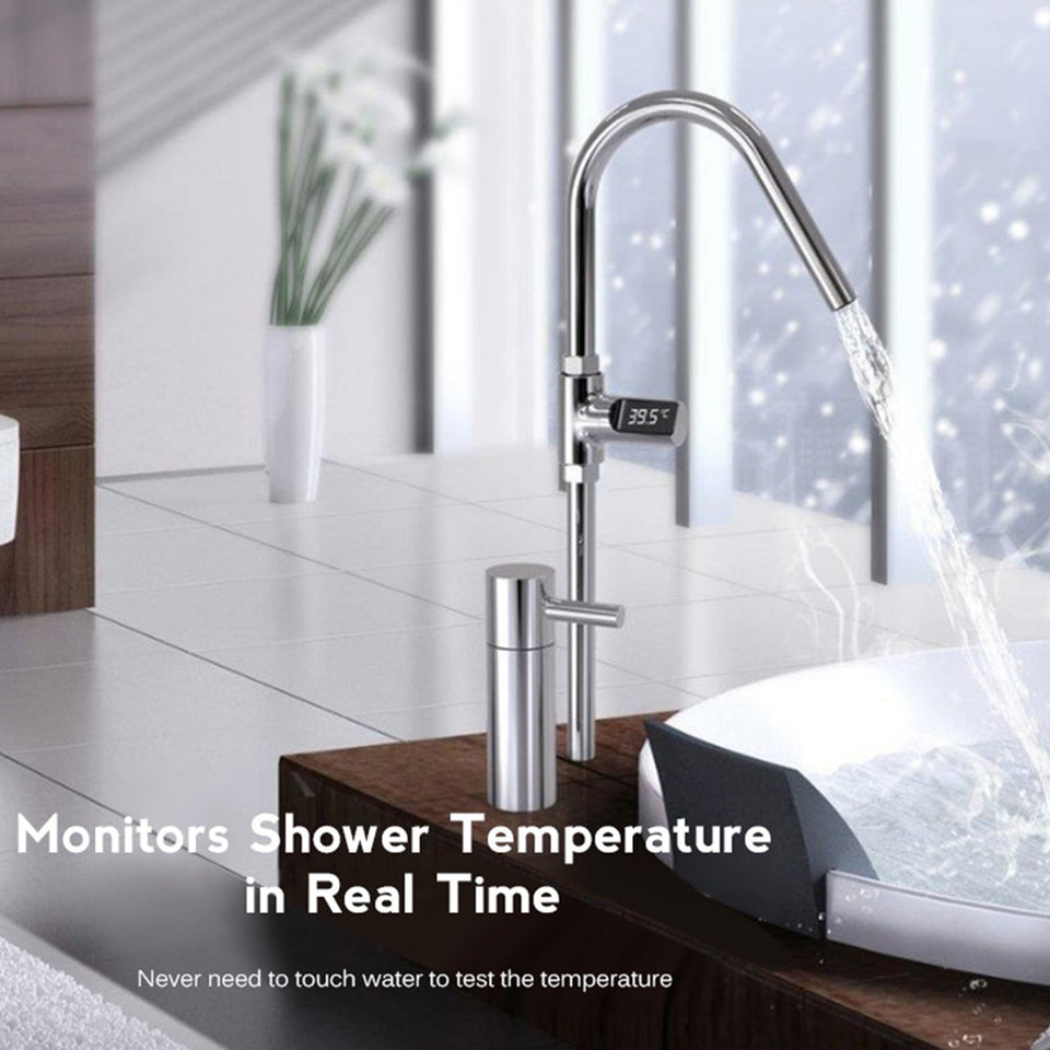 LED Display Home Water Shower Thermometer