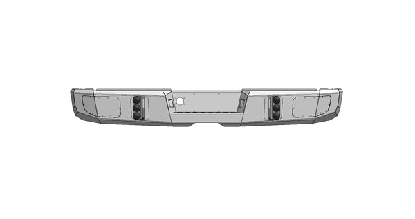 Dodge Ram (1994-2002) Steel Demon Series 2500/3500 Rear Bumper