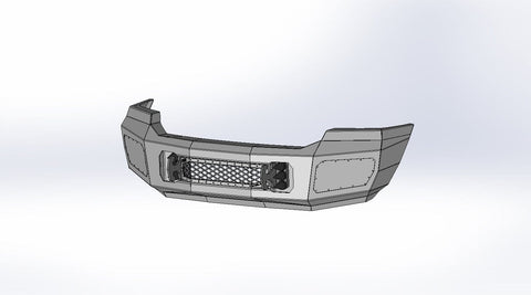 Ford (2005-2007) Super Duty F250/F350 Steel Demon Series Front Bumper