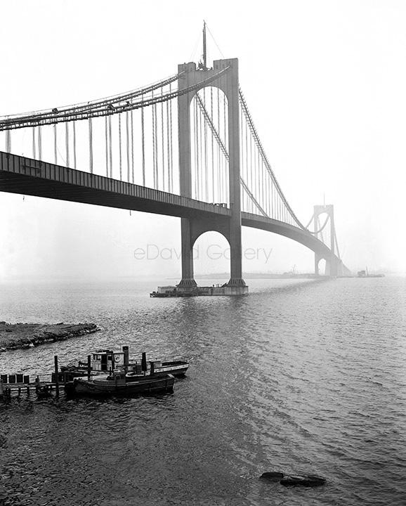 Bronx-Whitestone Bridge Nearing Completion 1939