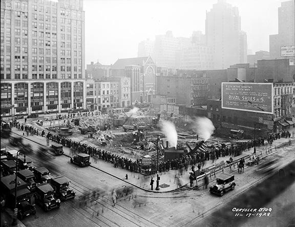 Chrysler Building Excavation 11/17/1928