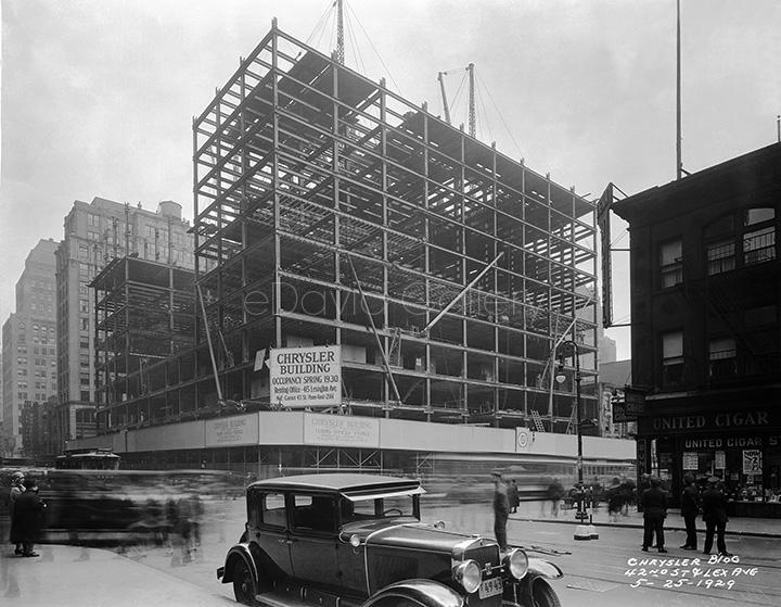 Construction of Chrysler Building 5/25/1929