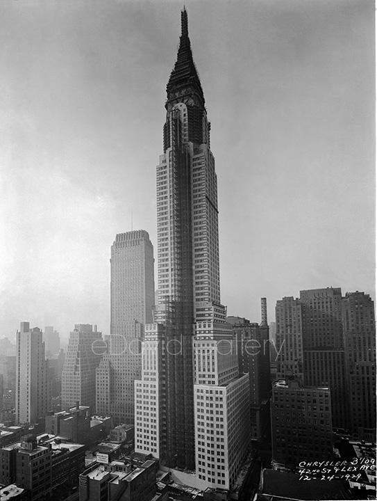 The Chrysler Building on Christmas Eve, 1929