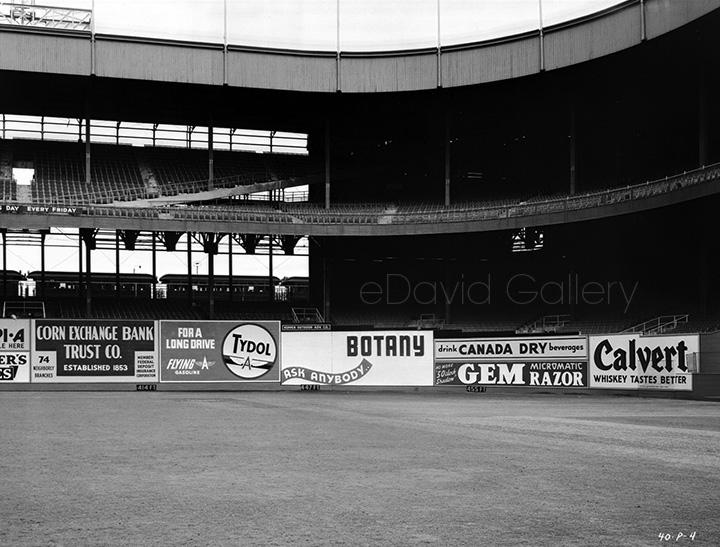 New York Giants Polo Grounds Outfield 1940
