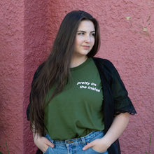 Middle Child Pretty On The Inside Tee Olive