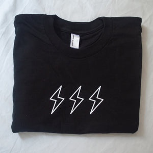 Middle Child Lightning Bolt Tee Black