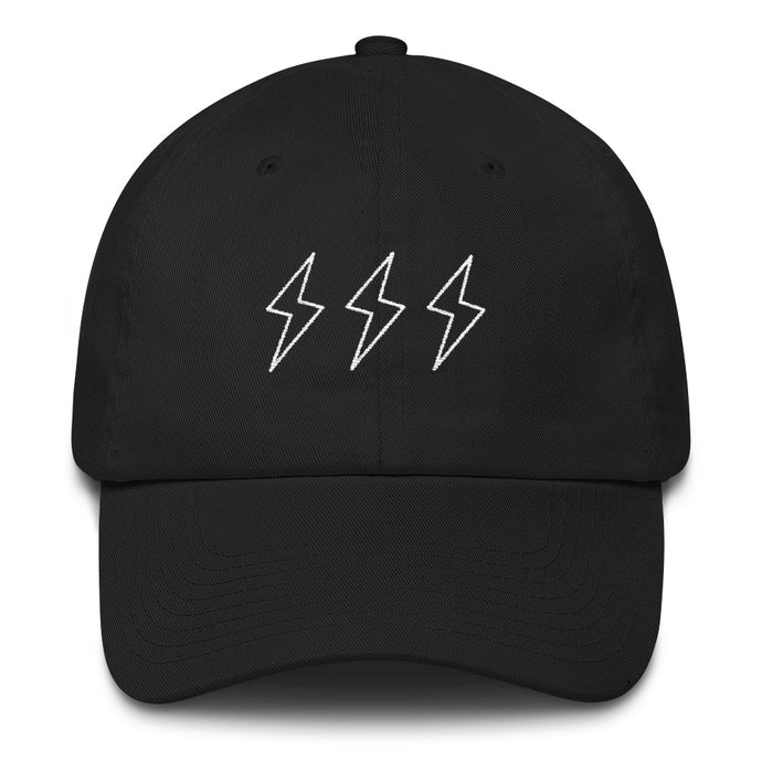 Middle Child Lightning Bolt Dad Hat Black
