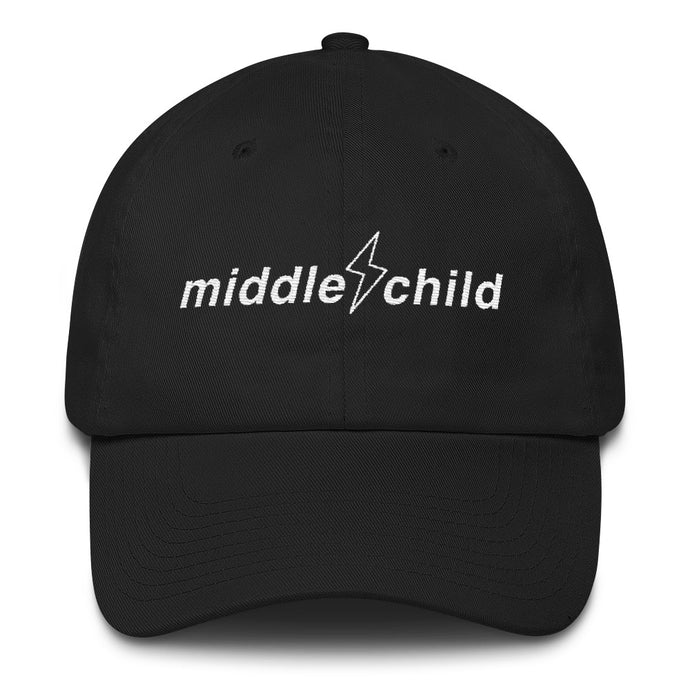 Middle Child Logo Dad Hat Black