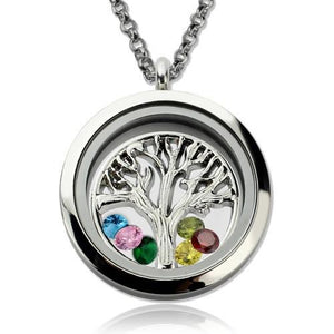 Stainless Steel Family Tree Floating Locket for Mothers