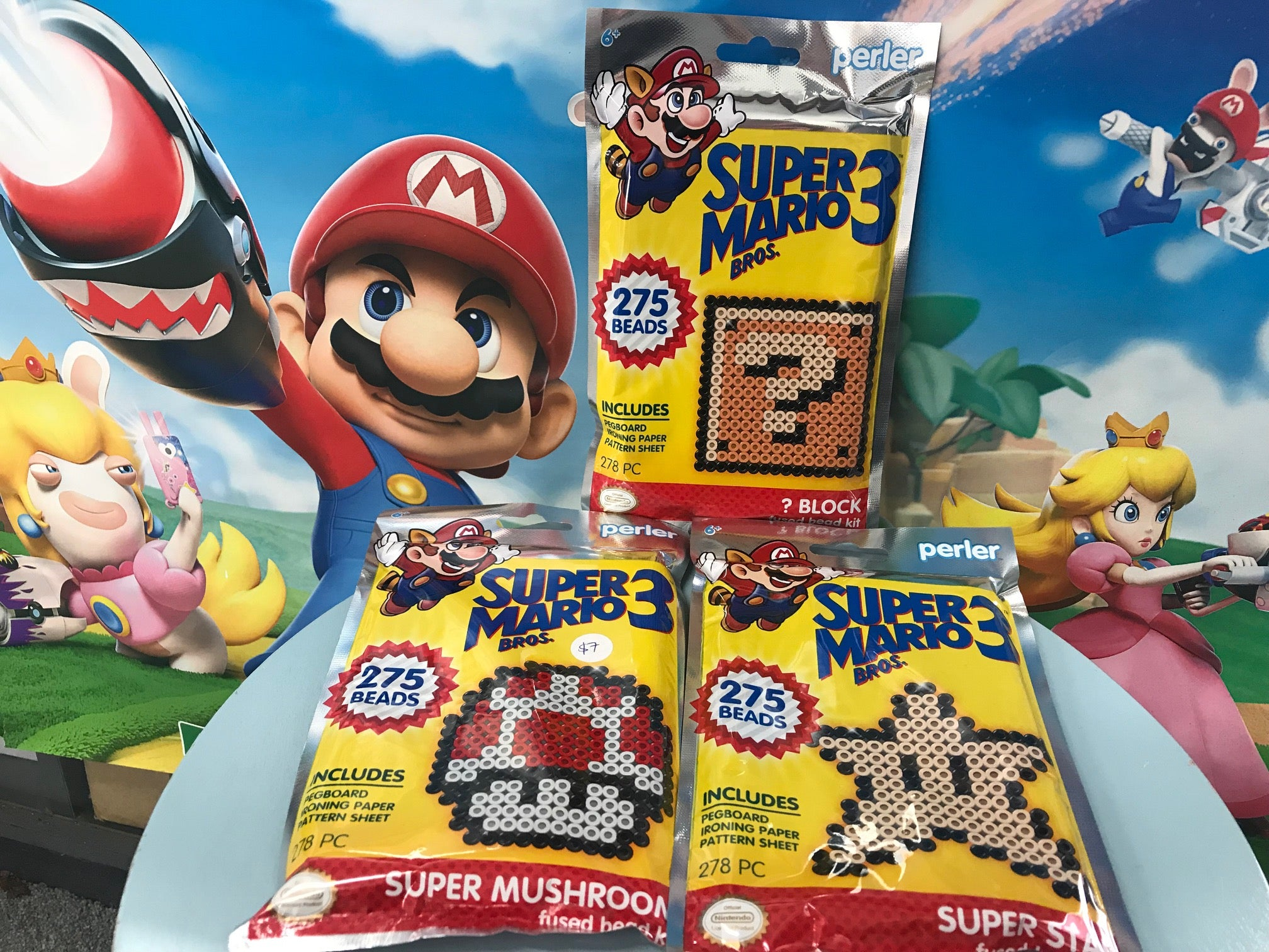 Super Mario Perler Beads - 3 kinds