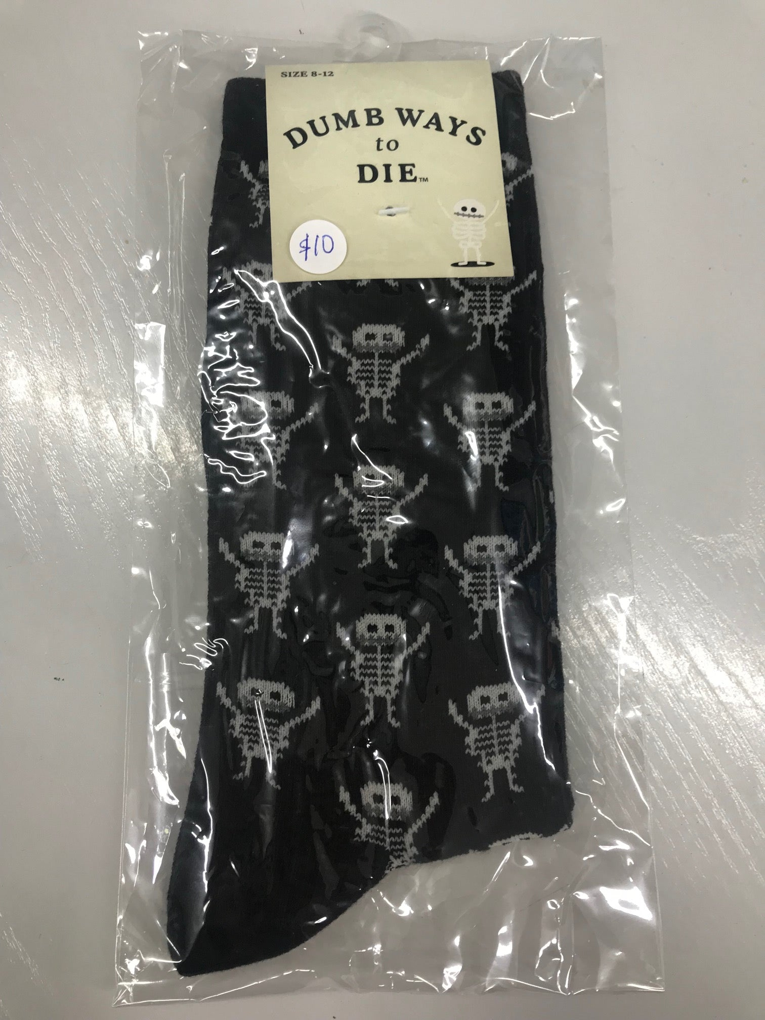 Dumb Ways to Die Skeleton Socks
