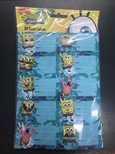 Spongebob Book Labels