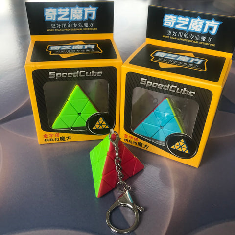 Mini pyraminx cube keyrings