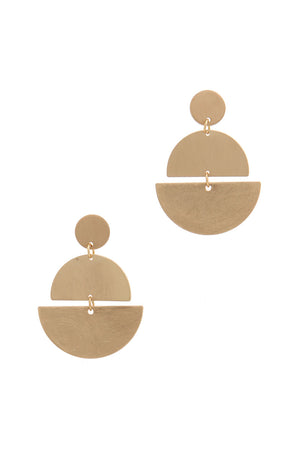Half Circle Post Drop Earring