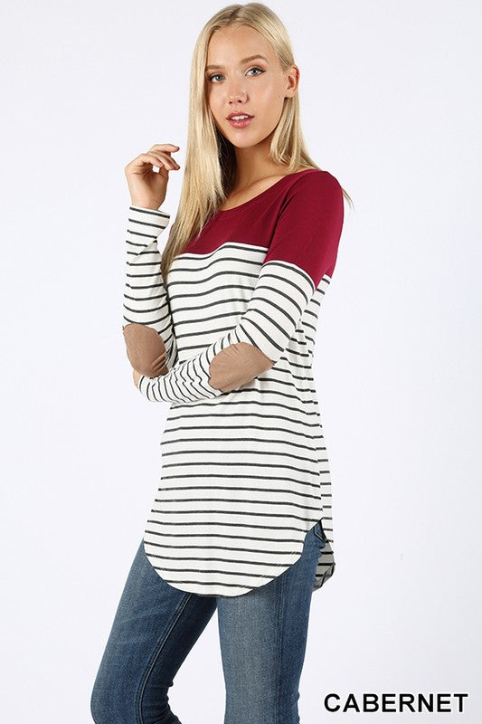 Striped Color Block Top