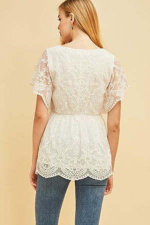 Lace V-Neck Top