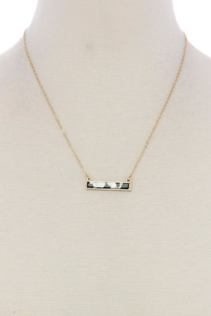 Bar Acetate Necklace
