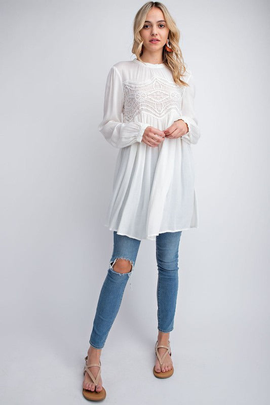 Puff Sleeve Tunic Shirt