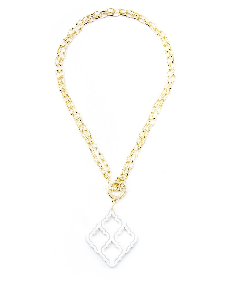 Lattice Pendant Necklace