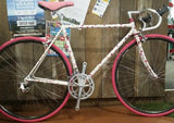 Custom built bike with pink details