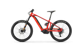 Mondraker e-crafty XR+ Red 2018 full suspension 27.5 electric mountain bike with integrated 500Wh Bosch battery, Bosch Performance Line CX system, Purion on-board computer