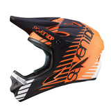 7iDP M1 Orange Full Face DH BMX Helmet has adjustable visor and large face opening for goggles