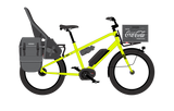 Benno Boost E 10D 2018 electric cargo utility ebike with child seat and Bosch Performance Line Centre Mount Motor