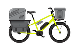 "Neon Yellow 24"" fat tire Benno Boost E 10D 2018 electric cargo utility e-bike with 250W Bosch Performance Line Centre Mount Motor in Neon Yellow"
