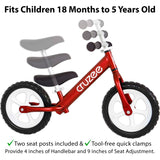 Cruzee Balance Bike for boys and girls from 18 months to 5 years